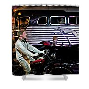 The Nifty Fifties Shower Curtain by Bill Cannon