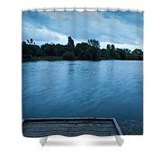 The Night Before The Big Storm Shower Curtain