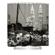 The Night Market Shower Curtain