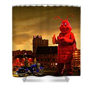 The Night Of The Lobster Man Shower Curtain