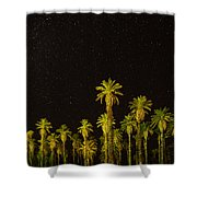 The Night Sky Over Death Valley Shower Curtain