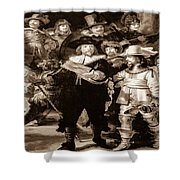 The Night Watch By Rembrandt Shower Curtain