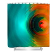 The No.2 Colored Hurricane Shower Curtain