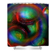 The No.7 Colored Hurricane Shower Curtain