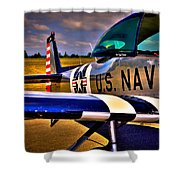 The North American L-17 Navion Aircraft Shower Curtain