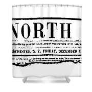 The North Star, 1847 Shower Curtain