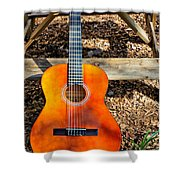 The Not So Old Guitar Shower Curtain