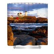The Nubble Lighthouse Shower Curtain by Steven Ralser