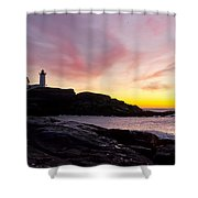 The Nubble Shower Curtain by Steven Ralser