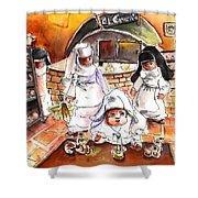 The Nuns Of Toledo 02 Shower Curtain