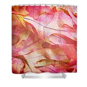The Oak Leaf Pile Shower Curtain