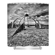 The Observatory Monochrome Shower Curtain
