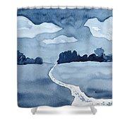 The Obvious Path Shower Curtain