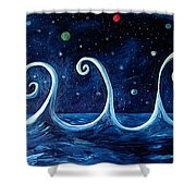 The Ocean, The Moon And The Stars Shower Curtain