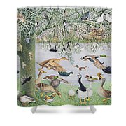 The Odd Duck Acrylic On Canvas Shower Curtain