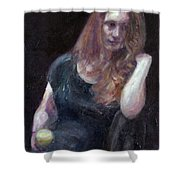 The Offering - Sale On Original Painting - Framed  Shower Curtain