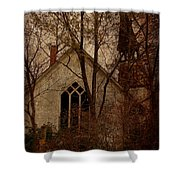 The Old Abandoned Church Shower Curtain