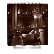 The Old Apothecary Shop Shower Curtain