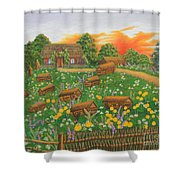 The Old Beekeeping Museum Shower Curtain