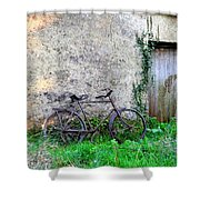 The Old Bike In The Irish Countryside Shower Curtain