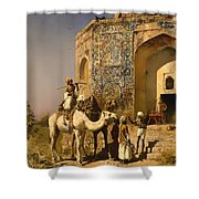 The Old Blue Tiled Mosque - India Shower Curtain