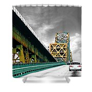 The Old Bridge Hwy 190 Mississippi River Bridge Baton Rouge Shower Curtain