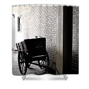 The Old Cart From The Series View Of An Old Railroad Shower Curtain
