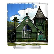 The Old Church In Hanalei Shower Curtain