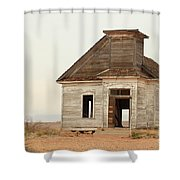 The Old Church In Town Shower Curtain
