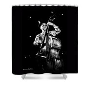 The Old Contrabass Player Shower Curtain by Stwayne Keubrick