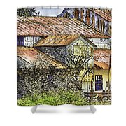 The Old Cotton Barn Shower Curtain by Barry Jones