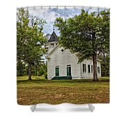 The Old Country Church Shower Curtain