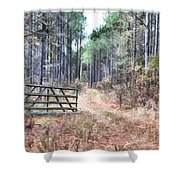 The Old Deer Gate Shower Curtain