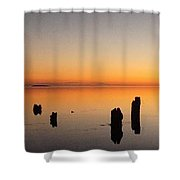 The Old Dock At Sunset Shower Curtain