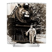 The Old Engineer Shower Curtain