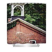 The Old Erie Schoolhouse Shower Curtain