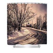 The Old Farm Down The Road Shower Curtain