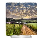 The Old Farm Lane Shower Curtain by Debra and Dave Vanderlaan