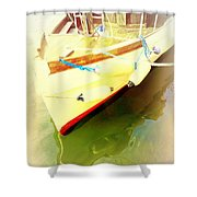 One Day The Old Ferry Is Going To Sink  Shower Curtain