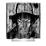 The Old Fisherman, 1899 Shower Curtain