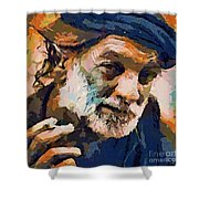 The Old Fisherman Shower Curtain