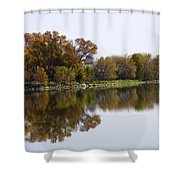 The Old Fishing Hole  Shower Curtain