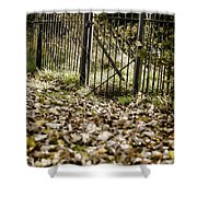 The Old Gate Shower Curtain