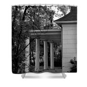 The Old Homestead In Black And White Shower Curtain