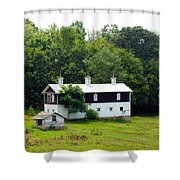 The Old Horse Barn Shower Curtain