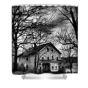 The Old House Down The Street Shower Curtain