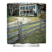 The Old House On The Hill  Shower Curtain