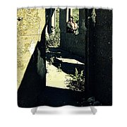 The Old Leper's Laundry Shower Curtain