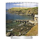 The Old Lizard Lifeboat Station Shower Curtain
