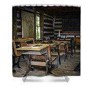The Old Mikado Bailey School House Shower Curtain